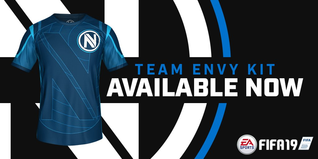 The official #TeamEnvy FIFA kit is now live in #FIFA19! Pick yours up and show your support for #EnvyFIFA!