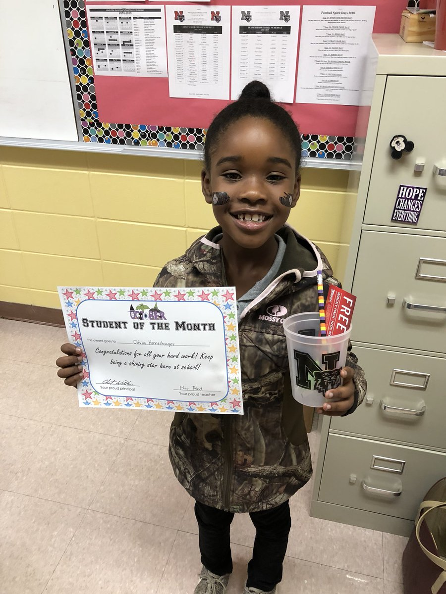 Congratulations to our 2nd grade student of the month!