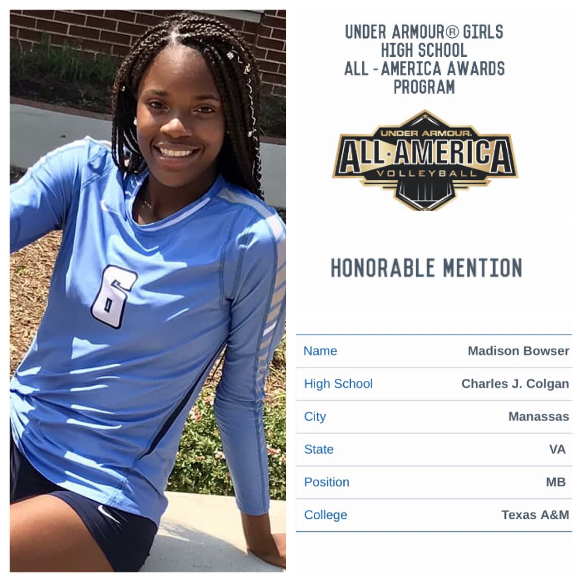 e82dcef0b964e ... All-American Honorable Mention list. 793 nominations were submitted  through AVCA & MaxPreps, resulting in 150 1st/2nd/3rd/HM teams. Way to go  Madison!!!