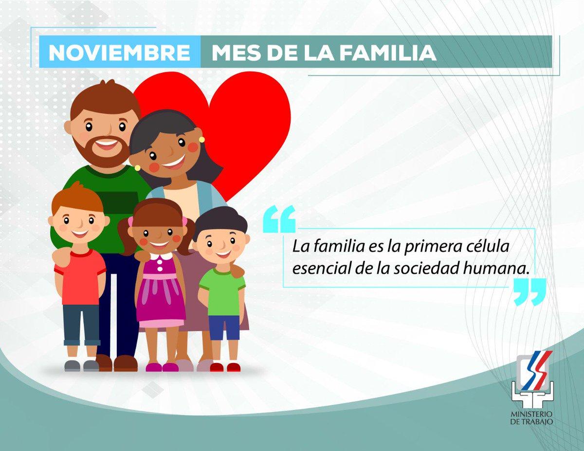 """Ministerio de Trabajo 🇩🇴 on Twitter: """"#Noviembre #MesDeLaFamilia """"La  familia es el núcleo de la sociedad"""".… """""""