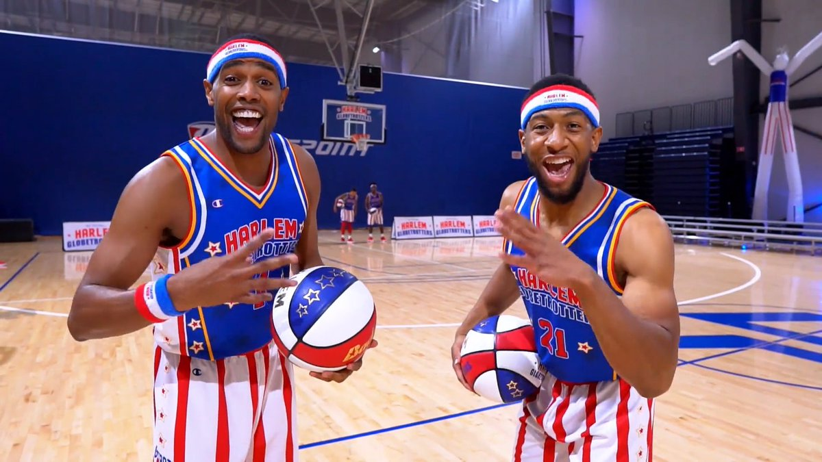 Our new Fan Powered World Tour debuts today! Here's a taste of what you'll see when we visit your city...  🎟 http://harlemglobetrotters.com/tickets