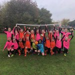 A bit wet at the footie this morning but great fun! Well done girls!