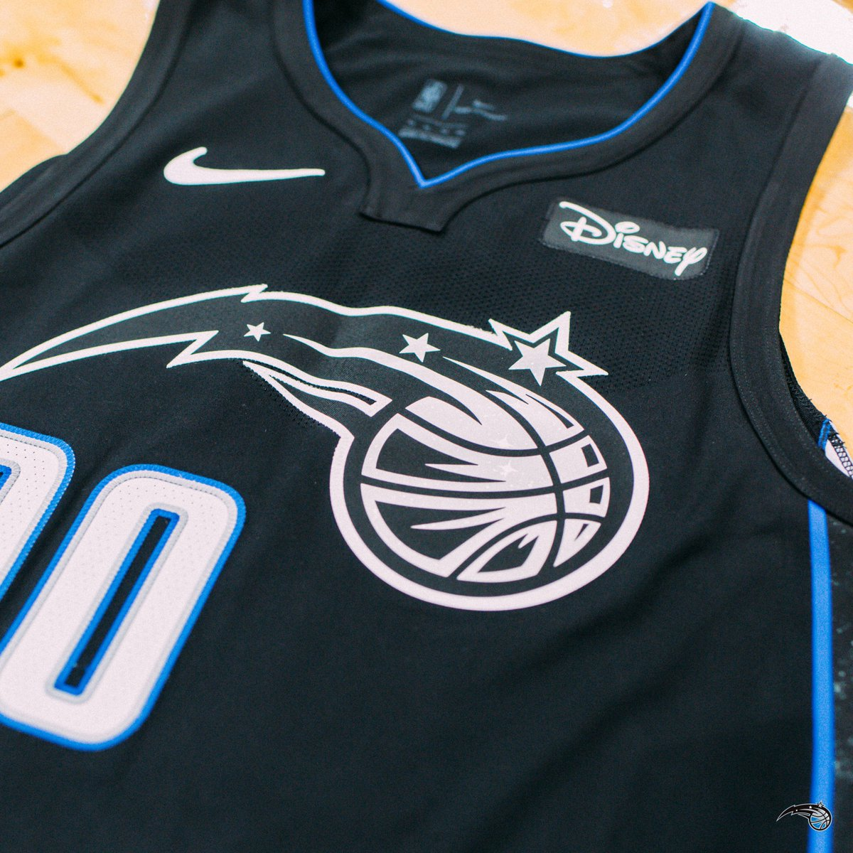 A closer look at the  Magic s new City Edition uniforms. Very similar to  last year with the space theming moved to the side panels. It is shiny. 6b4426bf8