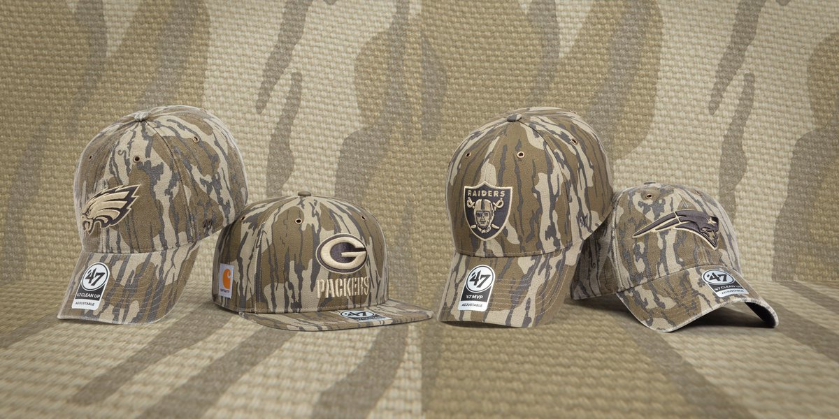 MossyOak x  Carhartt x  47. Available now in select NFL teams   http   bit.ly 2EWf4g1  OutworkOutroot pic.twitter.com TVn75NzXG7 9b1148df1