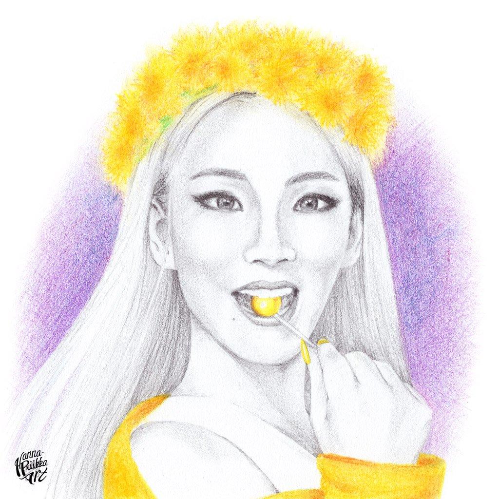#Huevember  Dandelion Yellow Lee Chaelin a.k.a CL #DRAWING #CL #이채린