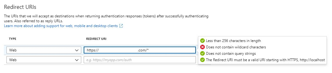 New Http Redirect Uris Are Not Allowed