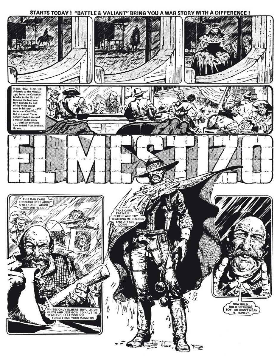 2000 ad on twitter it was carlosezquerra s work on war ics in 80s Men a spaghetti western style strip about a former slave turned bandit who returns to the usa in the midst of the civil war and plays both sides off each