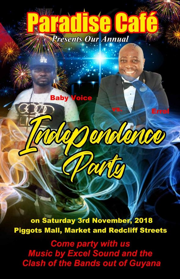 Keep the #Independence celebrations going this Saturday! 🇦🇬🎶🎉🥂✨ : http://ow.ly/L2Fu30mrOu2  #ABIndependence #ParadiseCafe #IndependenceParty #AntiguaNightlife #AntiguaNice