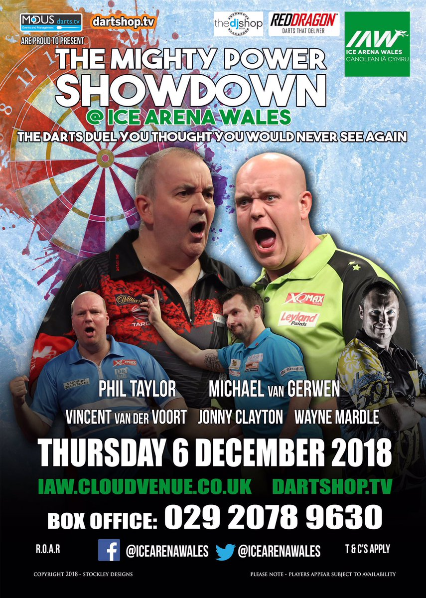 -OFFER- Another discount offer for JDC Members only 😎 Come and see @PhilTaylor and JDC Ambassador @MvG180 just before Christmas !! Visit the JDC Facebook page for detail. @ModusDarts180