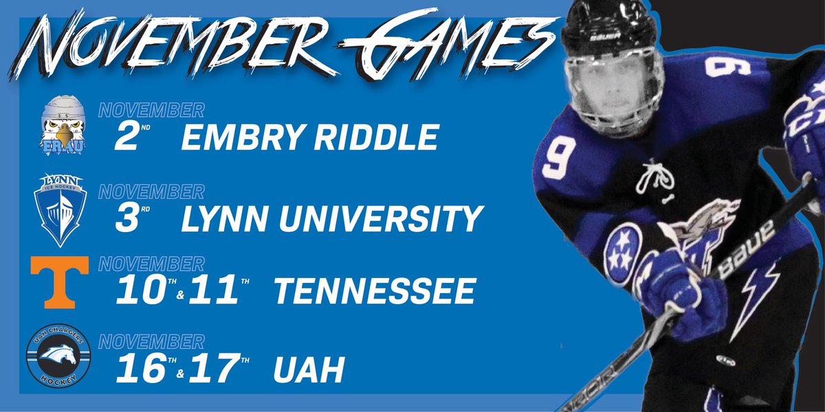 Mtsu Hockey On Twitter Welcome November Mtsu Will Be