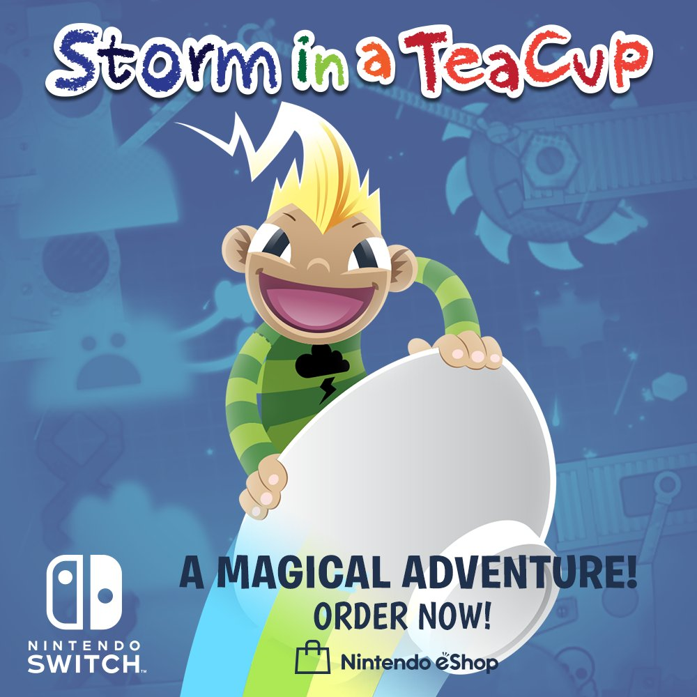 Rsg Team Risingstargames Twitter Three Way Switch Animation Family Friendly Teacup Platforming In A Magical Dreamworld 3 Storminateacup Out Now On Nintendo Eshop