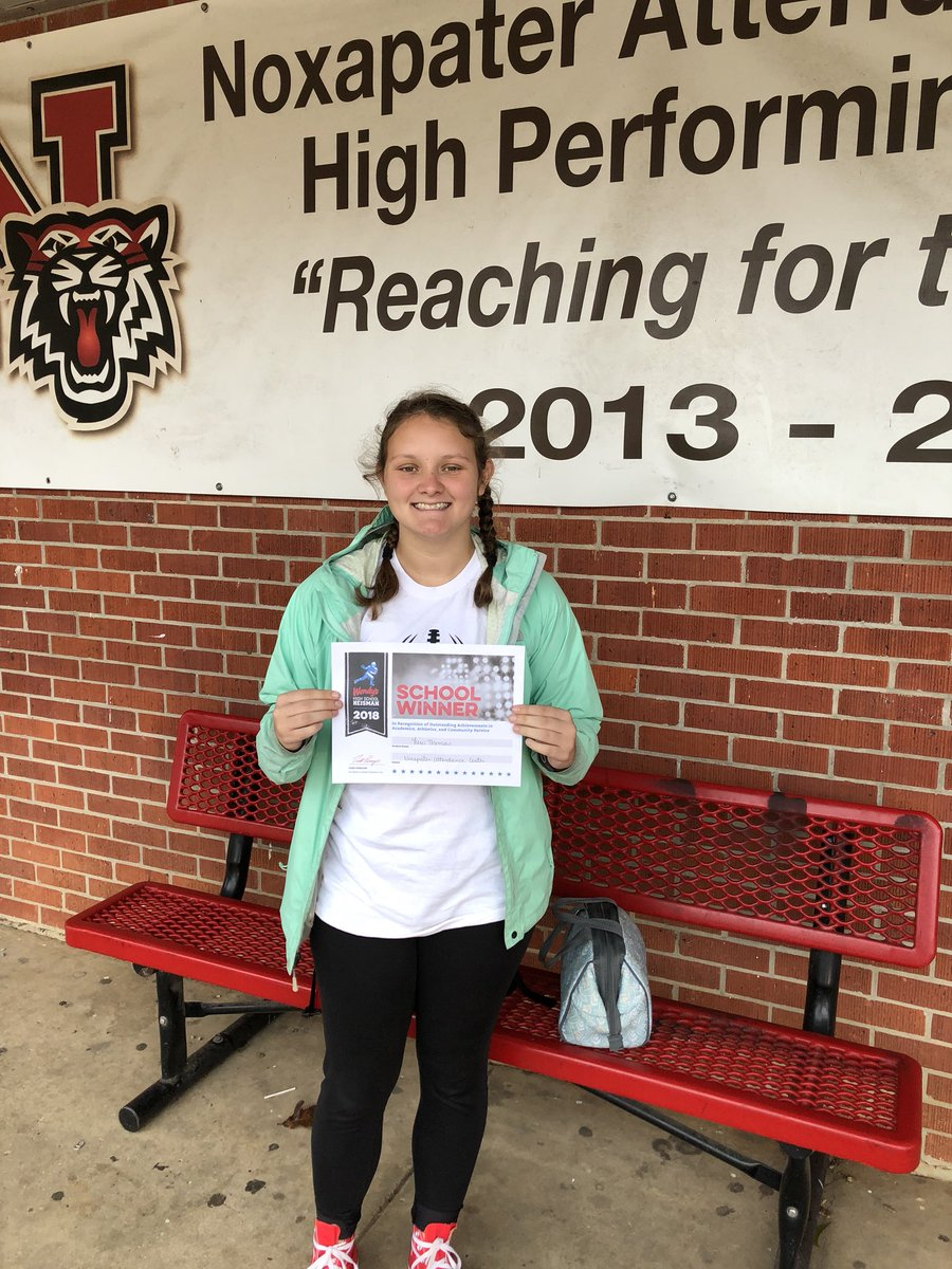 Congrats to Lexi Thomas for being the school winner of the 2018 Wendy's High School Heisman!