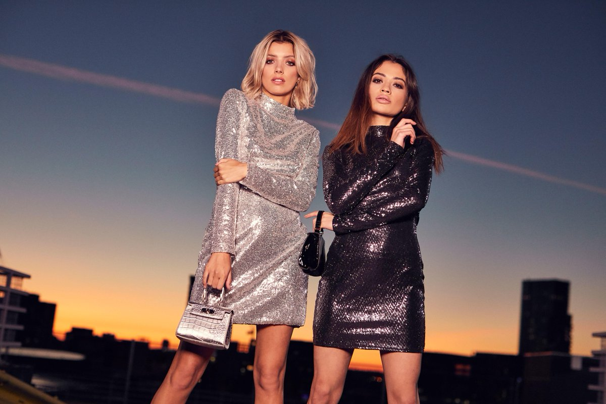 Twice as nice 💎⚡Brighten up the dark nights with the 'high neck sequin mini dress' in both colours  💖✨https://t.co/skphfEwTVQ