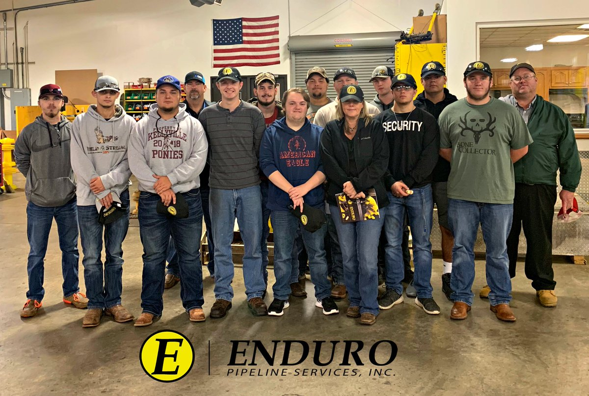 Enduro hosted students from Central Technology Center's Pipeline Technology Program today. We always appreciate the opportunity to meet and educate the next generation of pipeline operators! #pigging #pipeline #services #centraltech