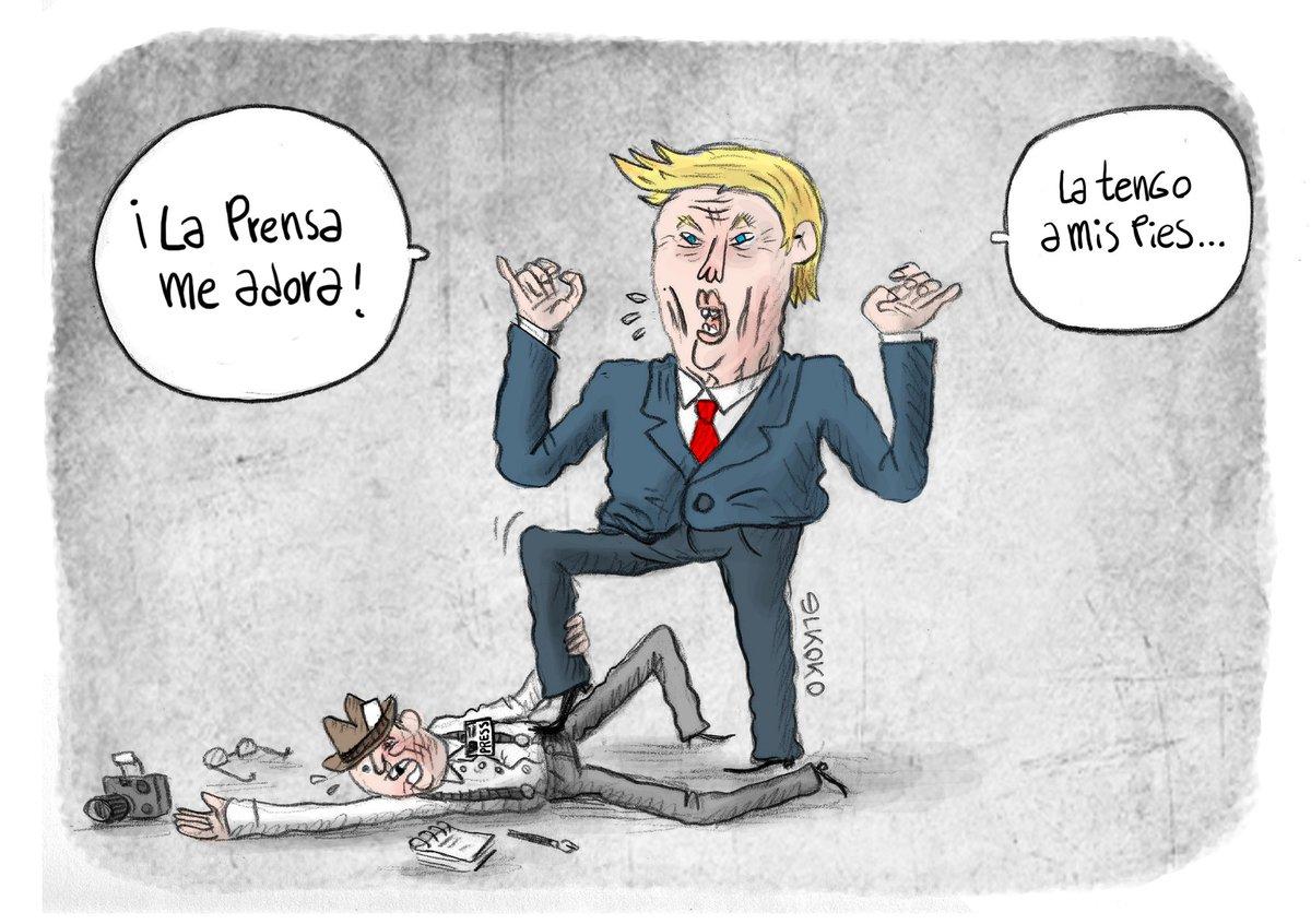 La prensa se rinde a los pies de Donald Trump #FakeNews #LibertadDeExpresión #LibertadDePrensa