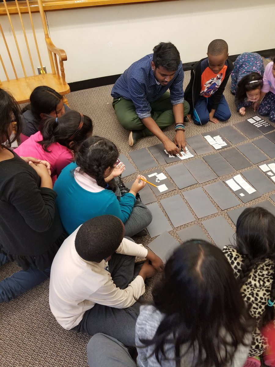 Exploring base ten and place values today during our after school #grade3 #MathClub @GlenRavineJrPS. Learning never stops #Numeracy #StudentEngagement @MrAmbi_TDSB @dzervas_tdsb @schan_tdsb @LC3_TDSB