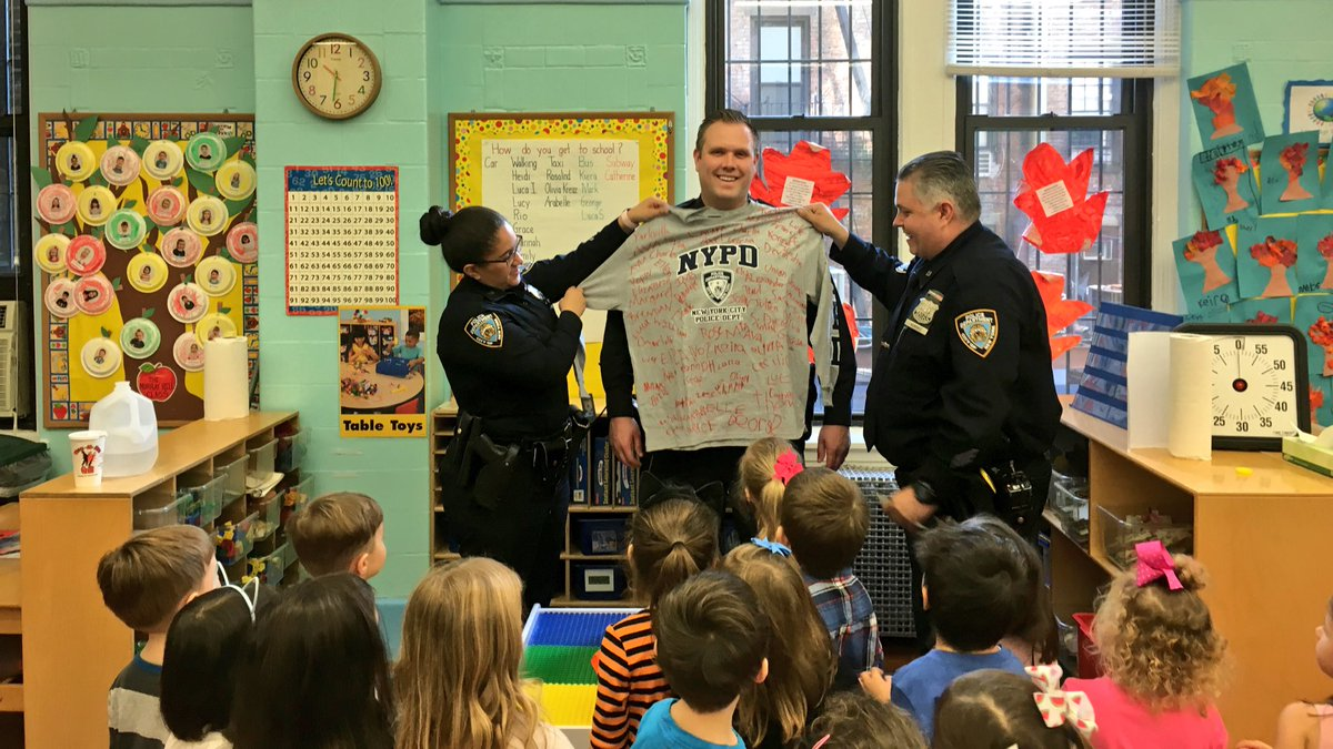 Nypd 19th Precinct On Twitter Our Youth Officers Stopped By St Ignatius Loyola Day Nursery School Today In Honor Of All Saints They Presented Them
