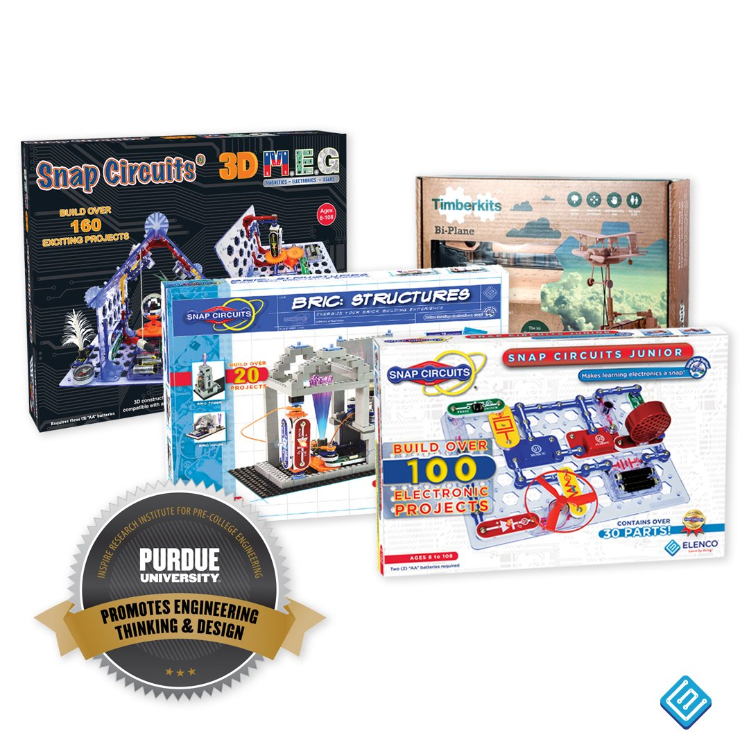 Cyntech Cyntech1 Twitter Learn About Electronics With Snap Circuits Junior And The Timberkits Bi Plane Were Selected For 2018 Engineering Gift Guide Thanks Purdueinspire