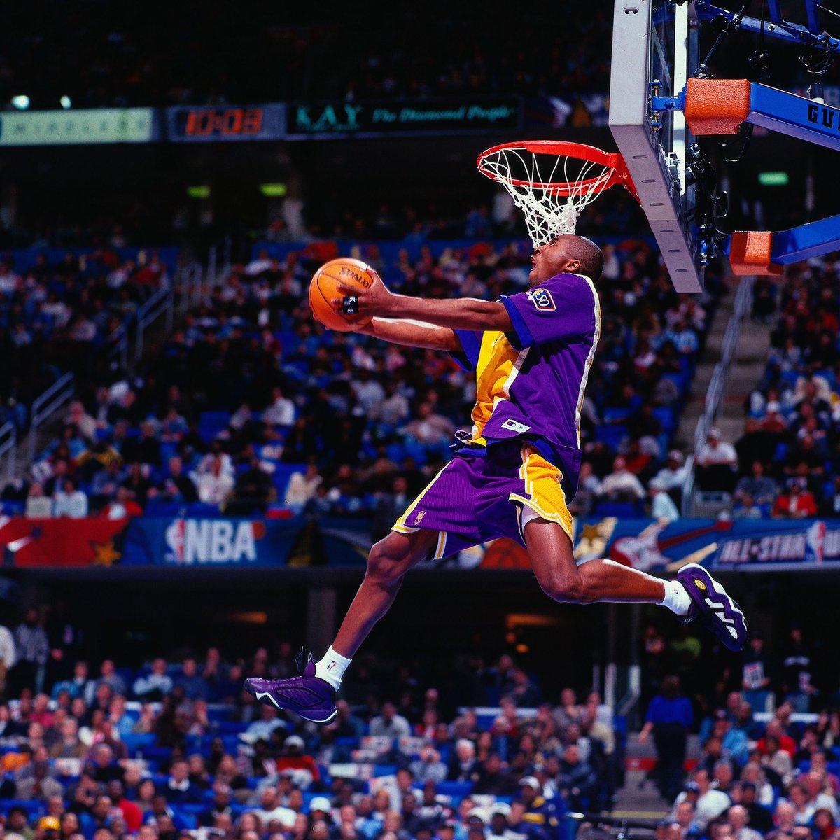 Cleveland #NBAAllStar 1997 #TBT...  18-year-old @kobebryant wins the 1997 Slam Dunk Contest!