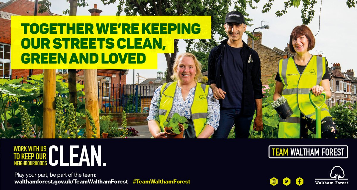 We're all #TeamWalthamForest and we'd like to thank over 1,000 Waltham Forest volunteers who give up their time to help keep our neighbourhoods clean and green.   Find out more about how you can play your part: http://socsi.in/TeamWalthamForest_zuDaC …