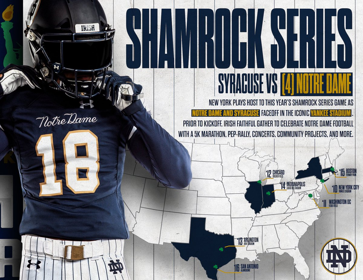 Notre Dame Football On Twitter A Unique Tradition True To Only The Irish Learn More About The History Of The Shamrockseries Goirish Undefeated Https T Co Aluiskmj8u