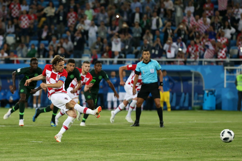 Luka Modric Scores From The Penalty Spot Against Nigeria At The  Fifa World Cup Russia