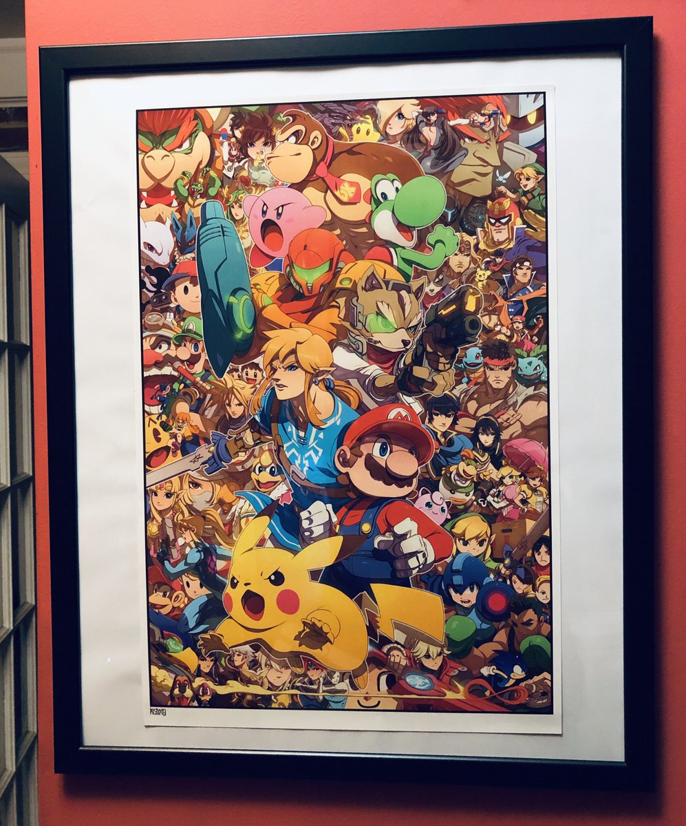 The final #SmashBros #NintendoDirect just reminded me that if your a fan, you definitely have to get this poster by @ironpinky