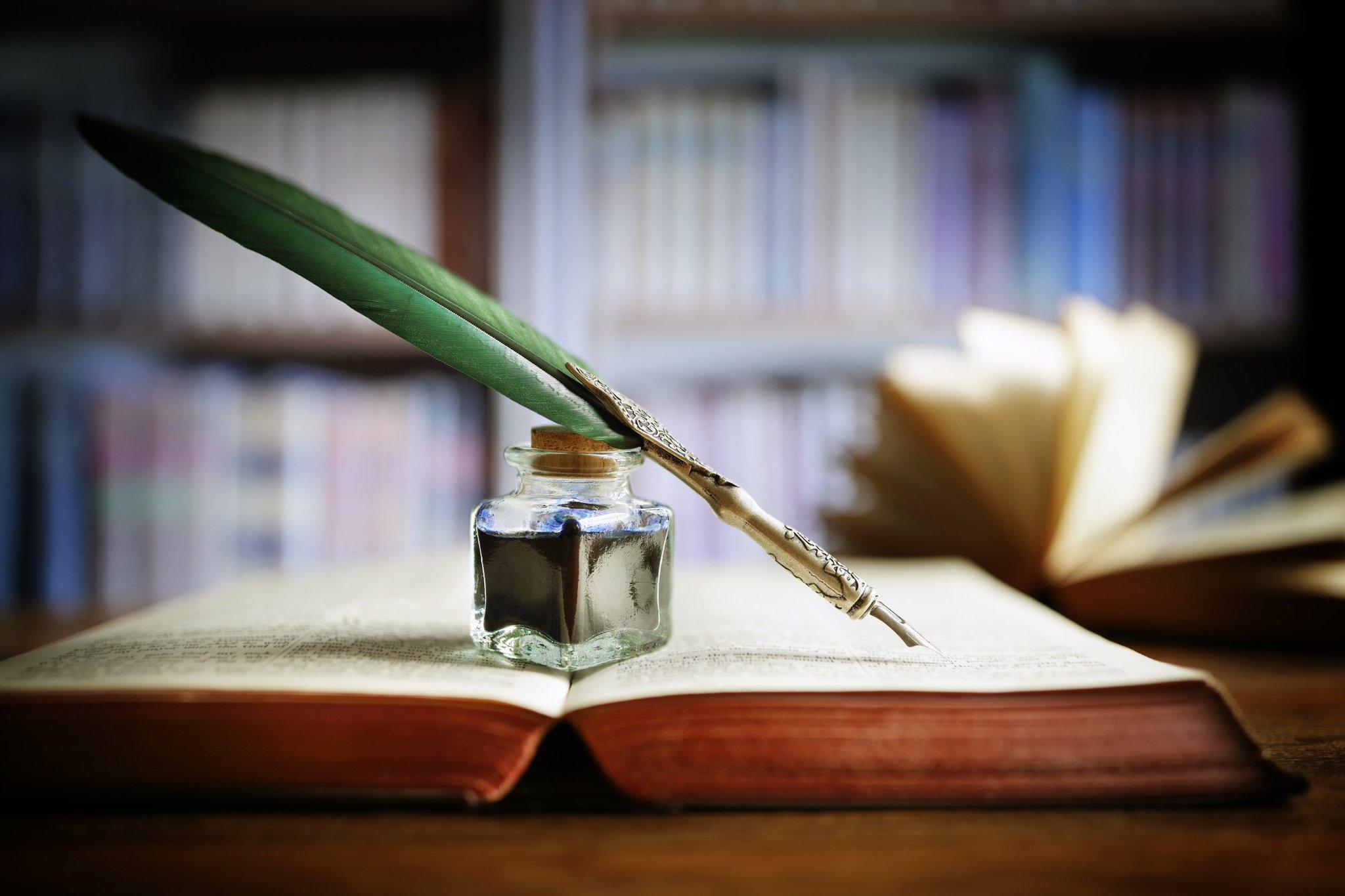 картинки перо ручка бумага для писателя здесь все