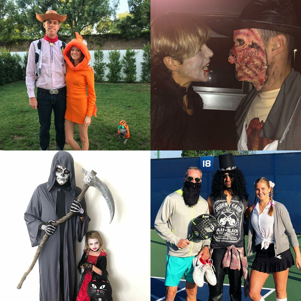 Members of the #WTTFamily had a great time dressing up for Halloween yesterday! 🎾🤠☠