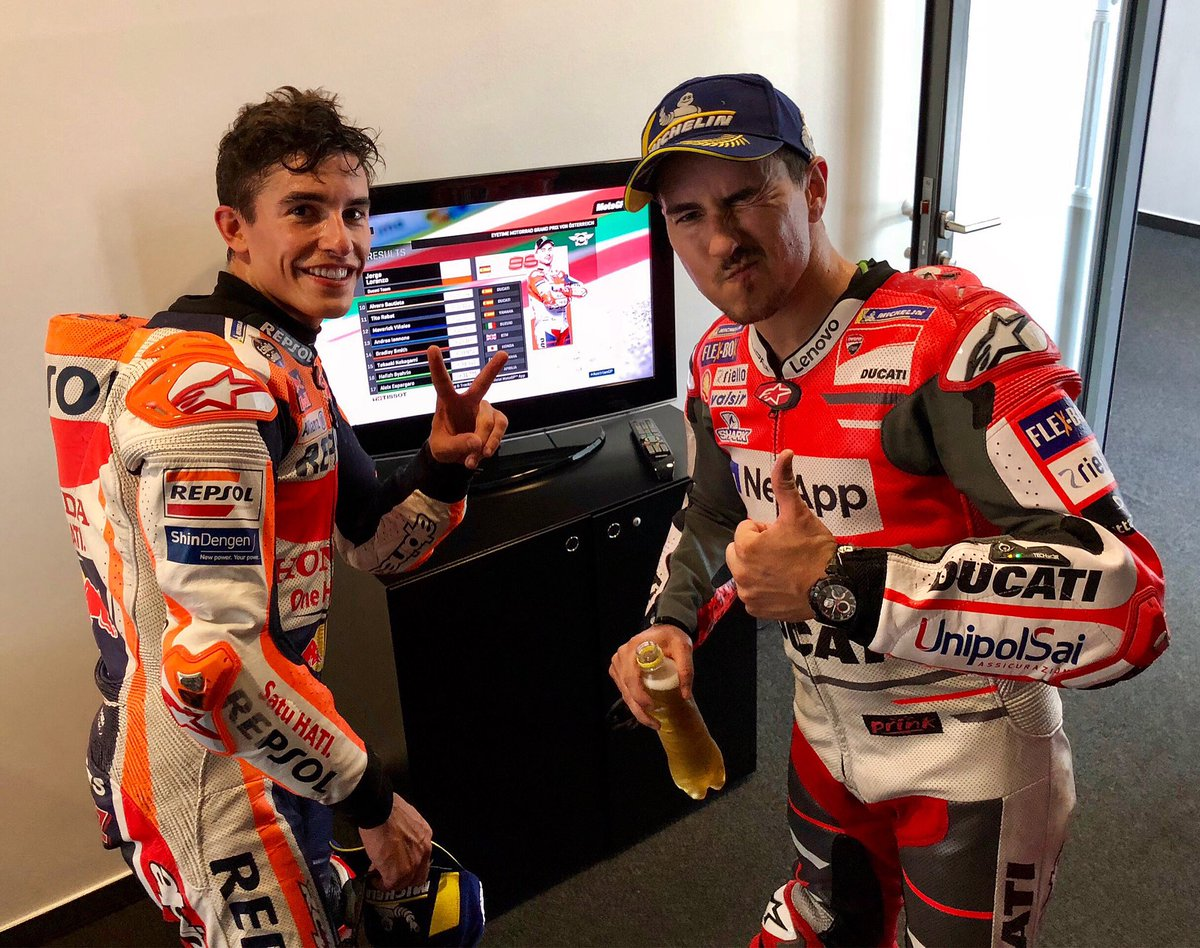 Sometimes we are not agree on the way to compete... but I recognize talent and excellence and there's no doubt about it. Congratulations @marcmarquez93 you've been the best again. 👏🏻