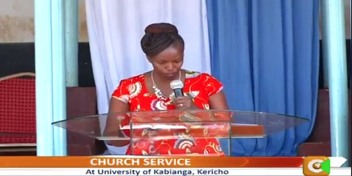 Rev. Joyce Tanui: As Christians we are like Daniel because we are aliens in a foreign land. Daniel declined to eat food being offered to them saying that they will not partake things of the world. Things of the world today include; alcohol, weed, pornography etc. #GospelSunday