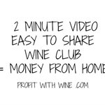 2 Minute Video, Easy to Share #wineclub  = money from home.  If you are struggling with your #homebasedbusiness maybe #wine is the answer.  Top earners @marie_bennett @anson_mac provide #socialmediamarketing training & more.  https://t.co/hR3u16TUkh <==