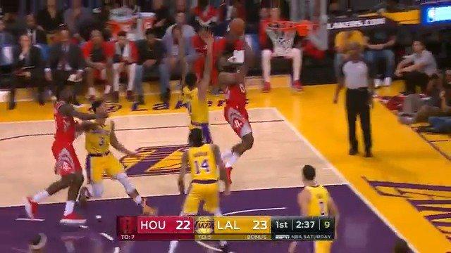 James Harden running downhill to the rack!  #Rockets @ESPNNBA https://t.co/BIKlFcnQNZ