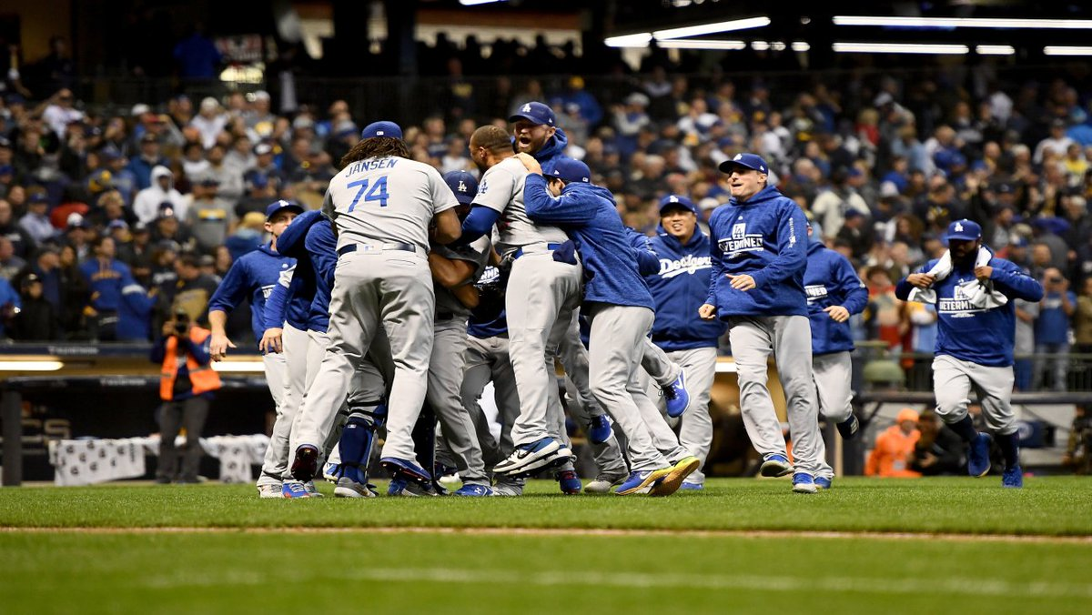 L.A. Dodgers head to the world series for second straight year https://t.co/LMRsXGkViG