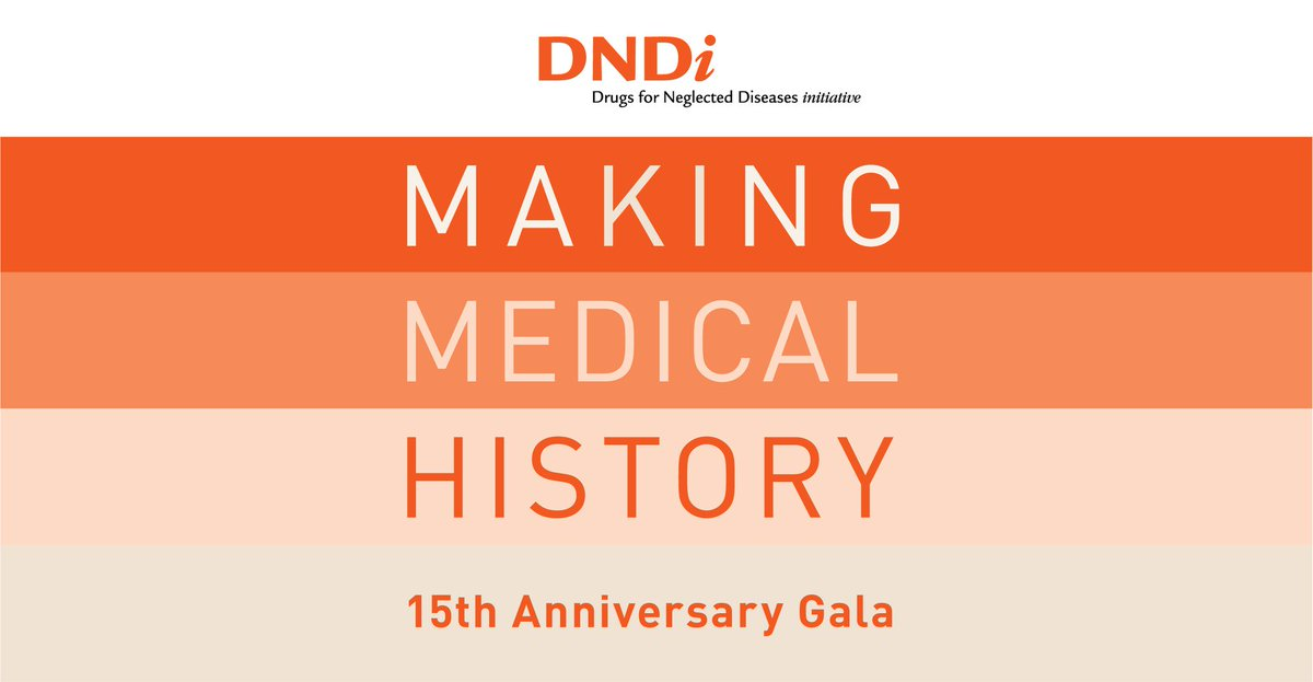 On Wednesday 10/24, DNDi will celebrate 15 years of providing the best science for the most neglected patients. http://www.makingmedicalhistory.org  #makingmedicalhistory
