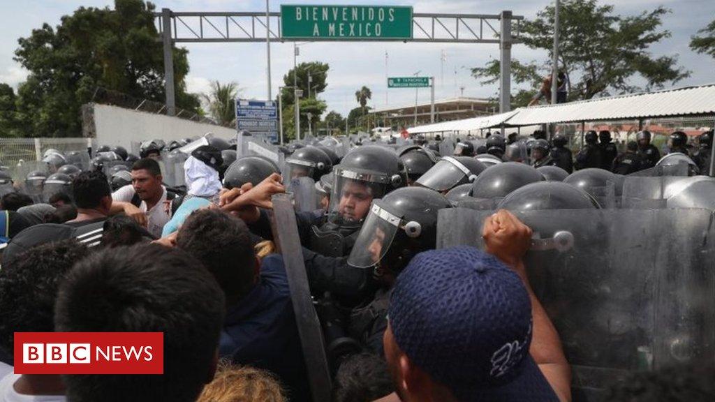 Exaustos e famintos, milhares de migrantes chegam ao México rumo aos EUA 'em busca de emprego e segurança' https://t.co/vQd1deOzGU
