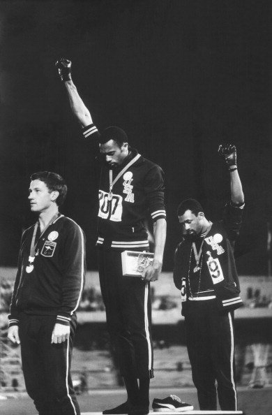 "On this date 50 years ago, Tommie Smith and John Carlos raised their fists in a black-power salute during the playing of the ""Star-Spangled Banner.'  The parallels between Kaepernick and those Olympic athletes is striking https://t.co/A5s7FBDCPz via @BV"