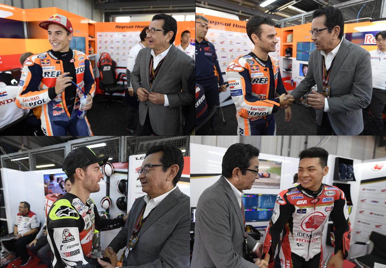 そしてもうすぐMotoGP日本GP決勝! ライダー、そしてチームのみんながんばれ✊ 実況アカウント @HondaJP_Live でもお伝えします!皆さん応援のほどよろしくおねがいします!!  #MotoGP #HondaMotoGP
