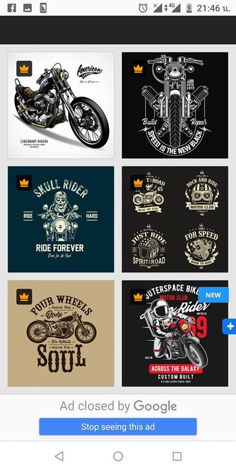 Image by Shutterstock Just Ride Motor Club  Men/'s Tee