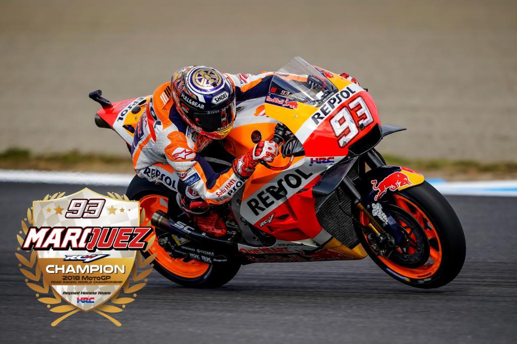 #MotoGP マルク・マルケス選手 Hondaのホームグランプリ、日本のファンの前で優勝& 年間チャンピオンを決めてくれました!ご声援本当にありがとうございます!!!  #HondaMotoGP #Level7