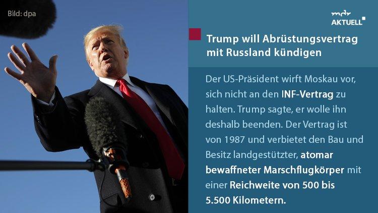 US-Präsident #Trump geht auf Konfrontationskurs zu #Russland. https://t.co/A2szJbvWmy