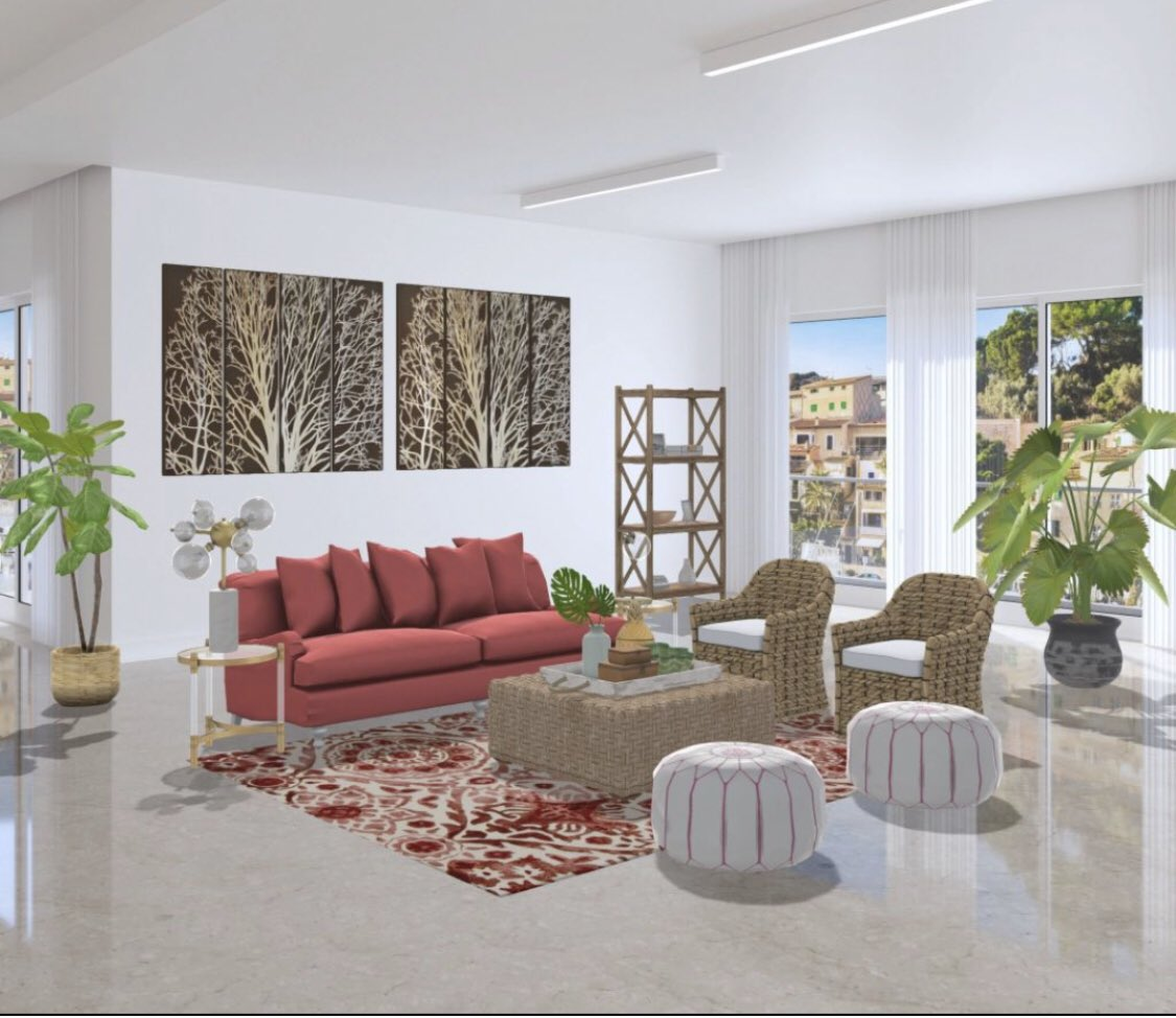 Feng Shui Style On Twitter My Latest Edesign A Bright Coastal