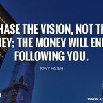 Image for the Tweet beginning: Chase the vision, not the