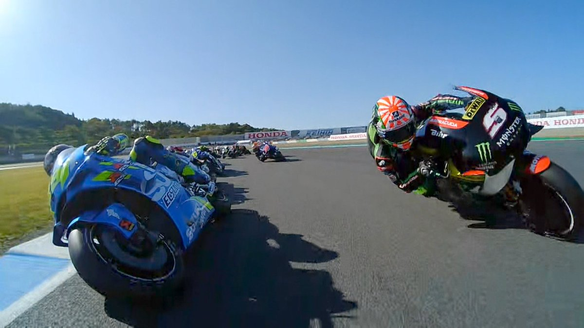 Motul Grand Prix of Japan: Multi-OnBoard Start 🎥  Witness the frantic #MotoGP race start from the point of view of various riders  #JapaneseGP | VIDEO 🎥 https://t.co/XhV3CXxuuI
