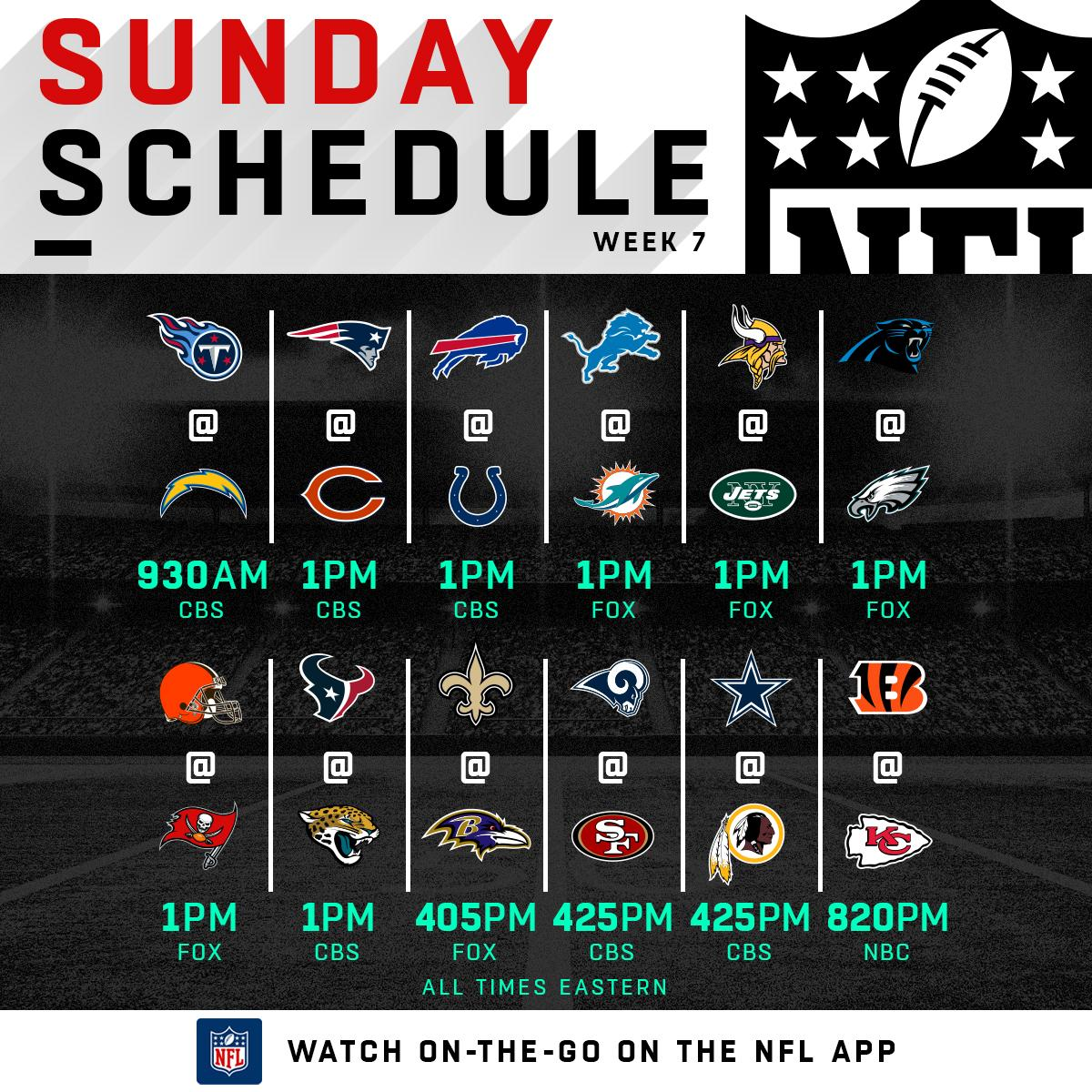 🏈🏈 Week 7 FOOTBALL SUNDAY. 🏈🏈