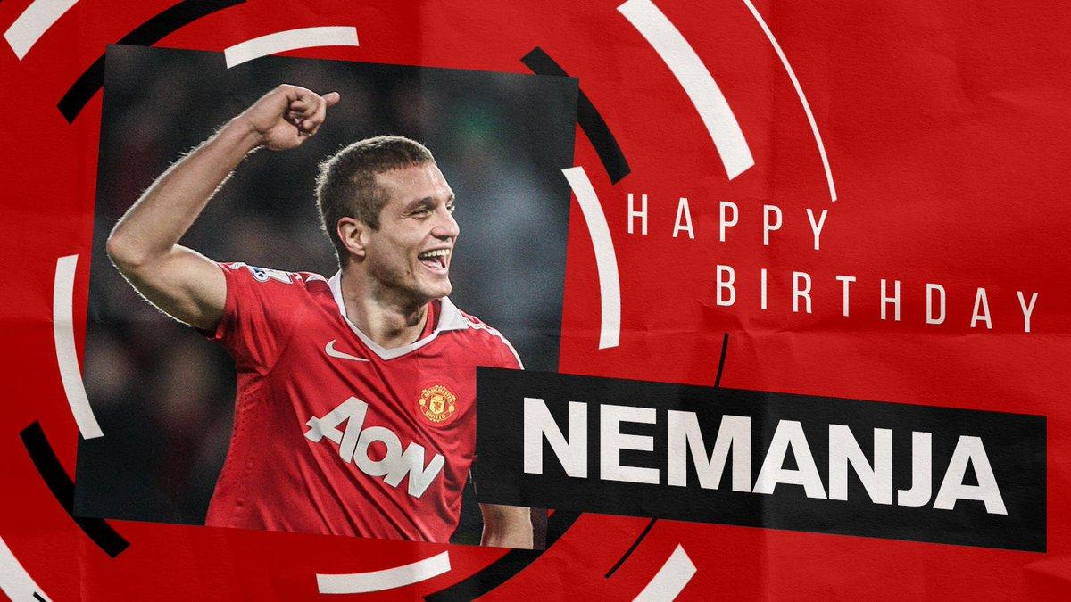 Best wishes to #MUFC great, Nemanja Vidic, on his birthday! 🎂