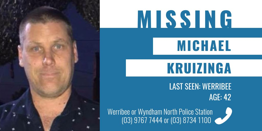 Have you seen Michael? The 42-year-old was last seen in Werribee and is known to frequent the Werribee River Trail. More information → https://t.co/W1sHNS5AlQ