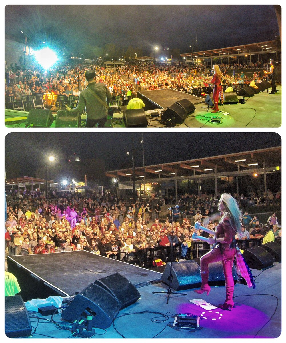 Arkansas, you're an amazing crowd for sticking around through that rain! What a great night with @SammyHagar & The Circle & @BretMichaels at @MusicFestElDo!