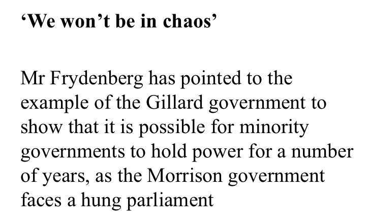 ROFL!!   After years ruthlessly bagging our 2010 Parliament where #Greens, ALP & indeps worked constructively together, the Liberals now hold us up as a role model?? My sides, my sides 😂