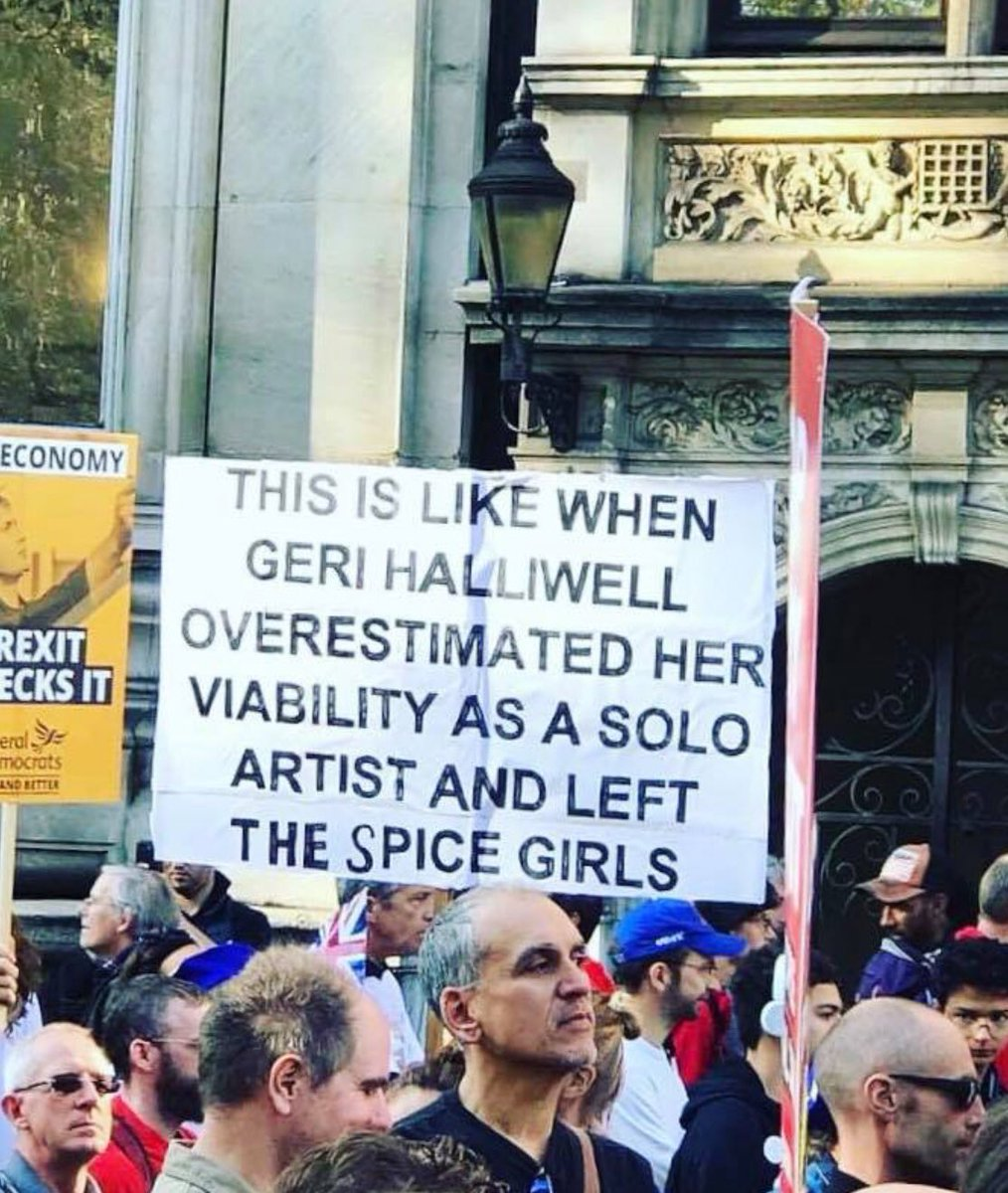 Best banner at #peoplesvotemarch yesterday - no contest.